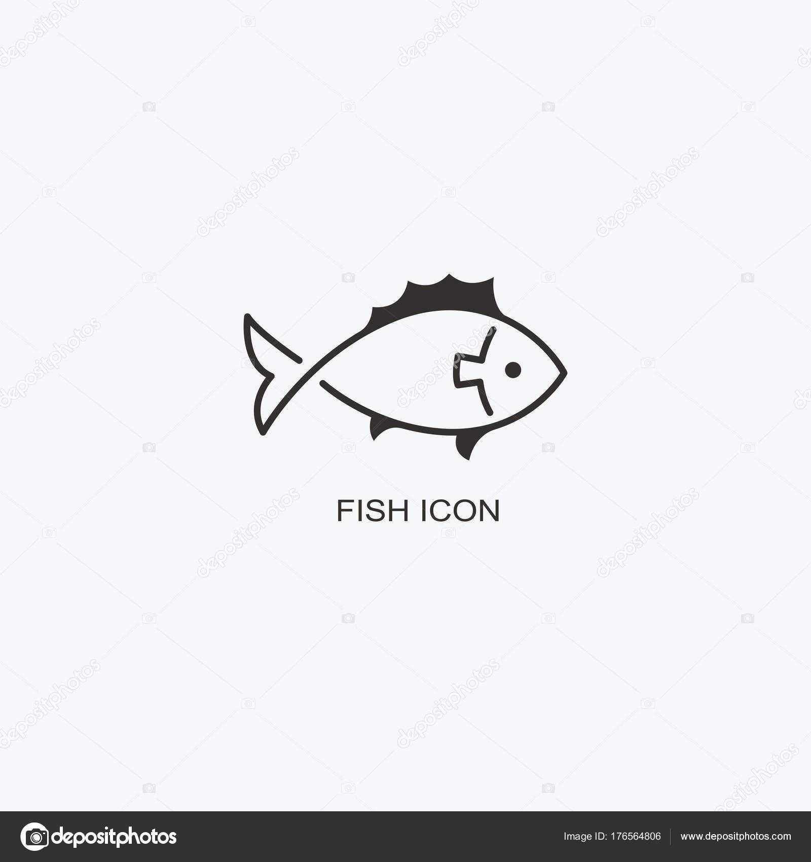 Plantilla de logo de peces para el diseño. Icono de restaurante de ...