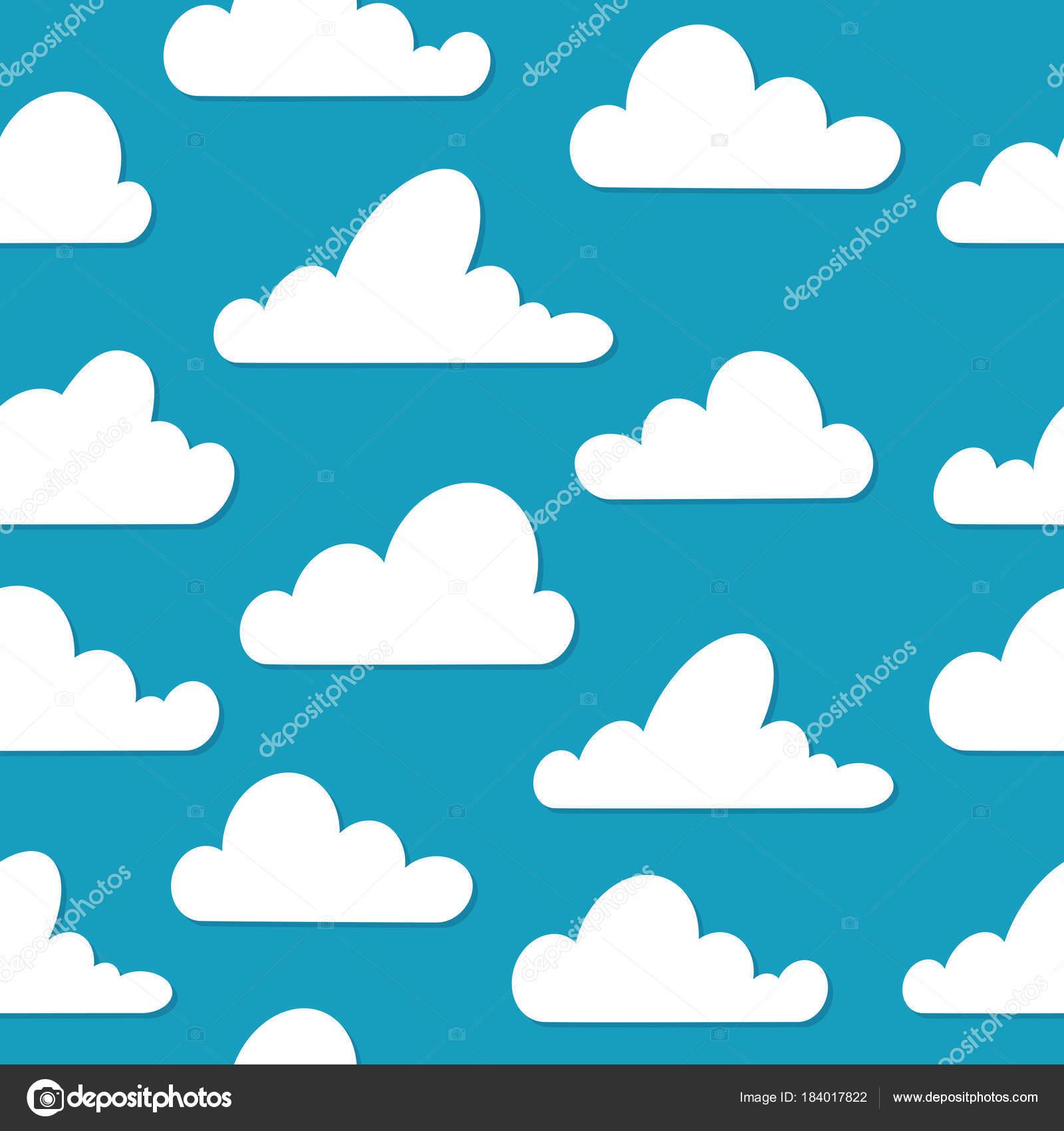 Krasna Modra Obloha S Ruznymi Mraky Vektorove Ilustrace Plochy