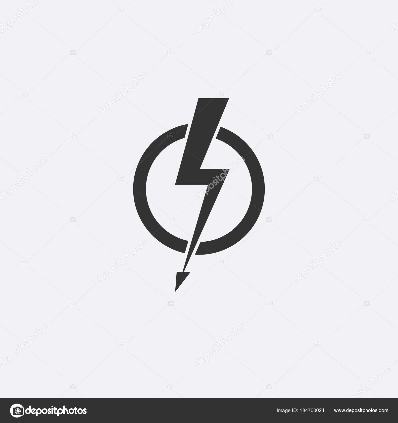 Lightning, electric power vector icon design element. Energy and ... for Lightning Logo In Circle  75tgx