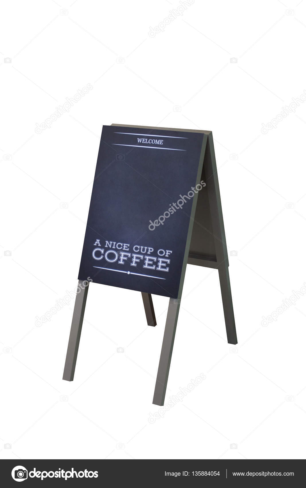Signboard Stand Chalkboard wooden frame Coffee Shop Menu with ...