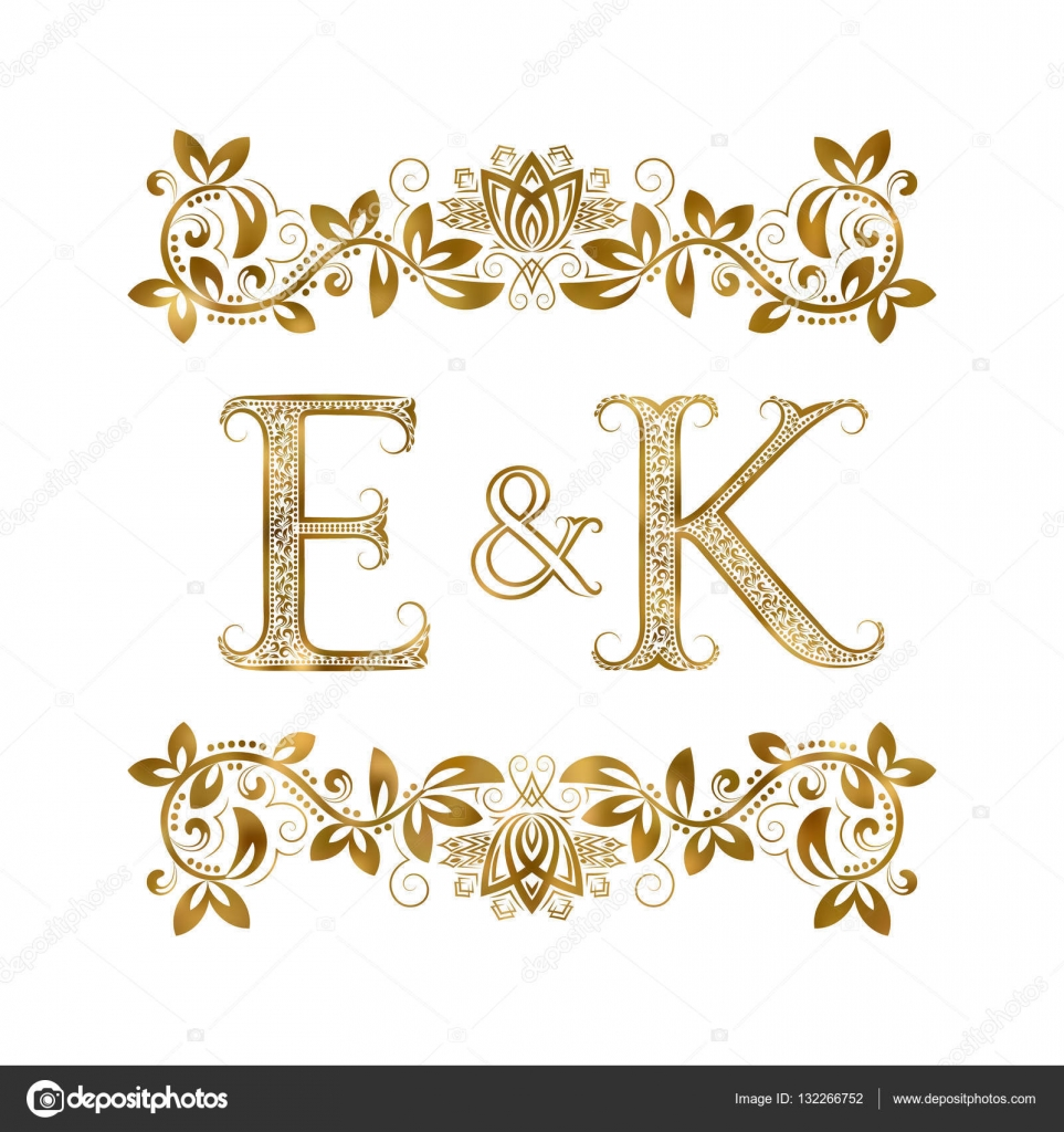 E and k vintage initials logo symbol the letters are surrounded by e and k vintage initials logo symbol the letters are surrounded by ornamental elements biocorpaavc Choice Image