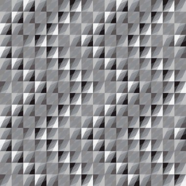 Abstract vector seamless pattern of monochrome squares.