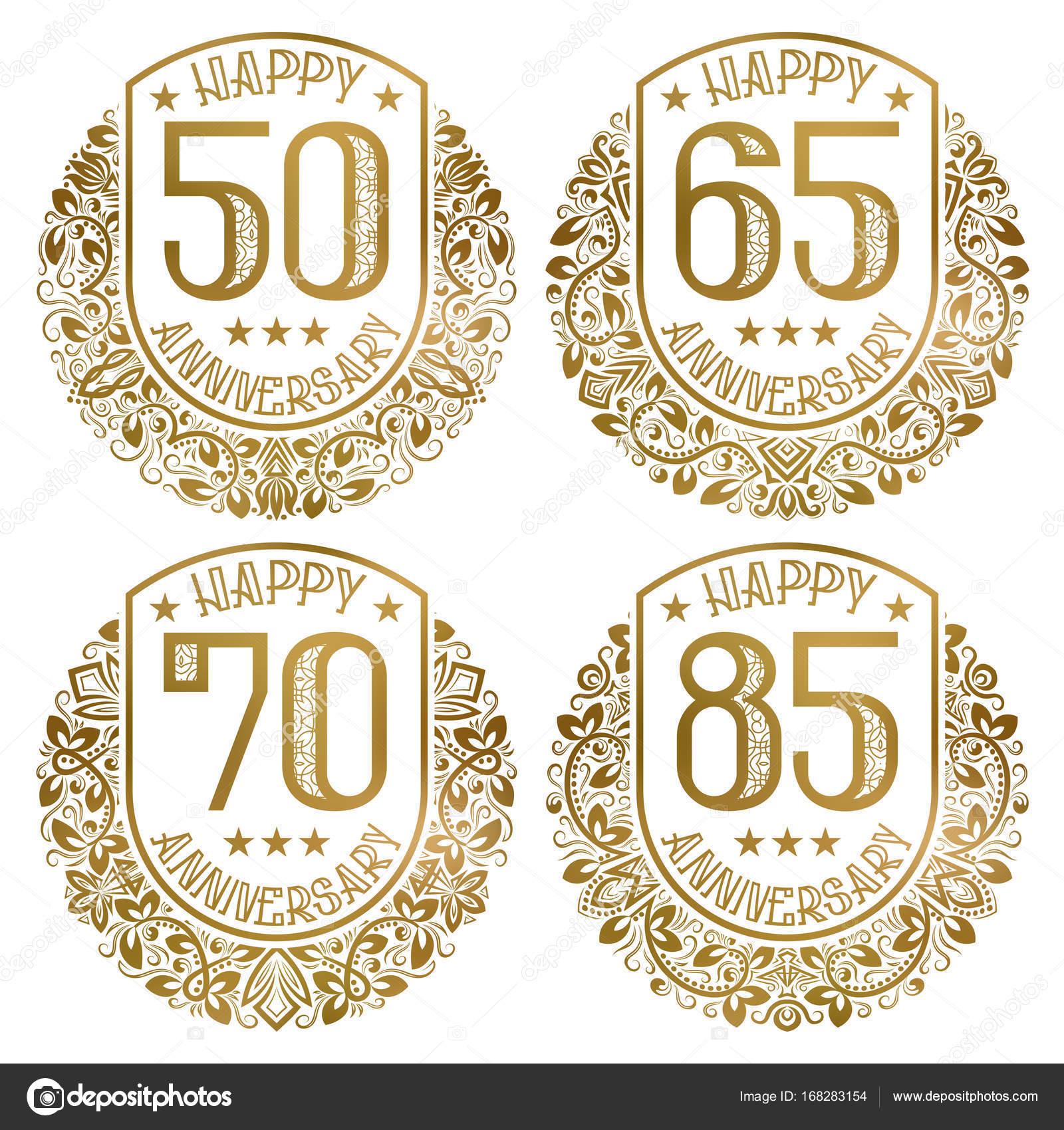 Imágenes Invitaciones Vintage 50 Años Feliz Aniversario
