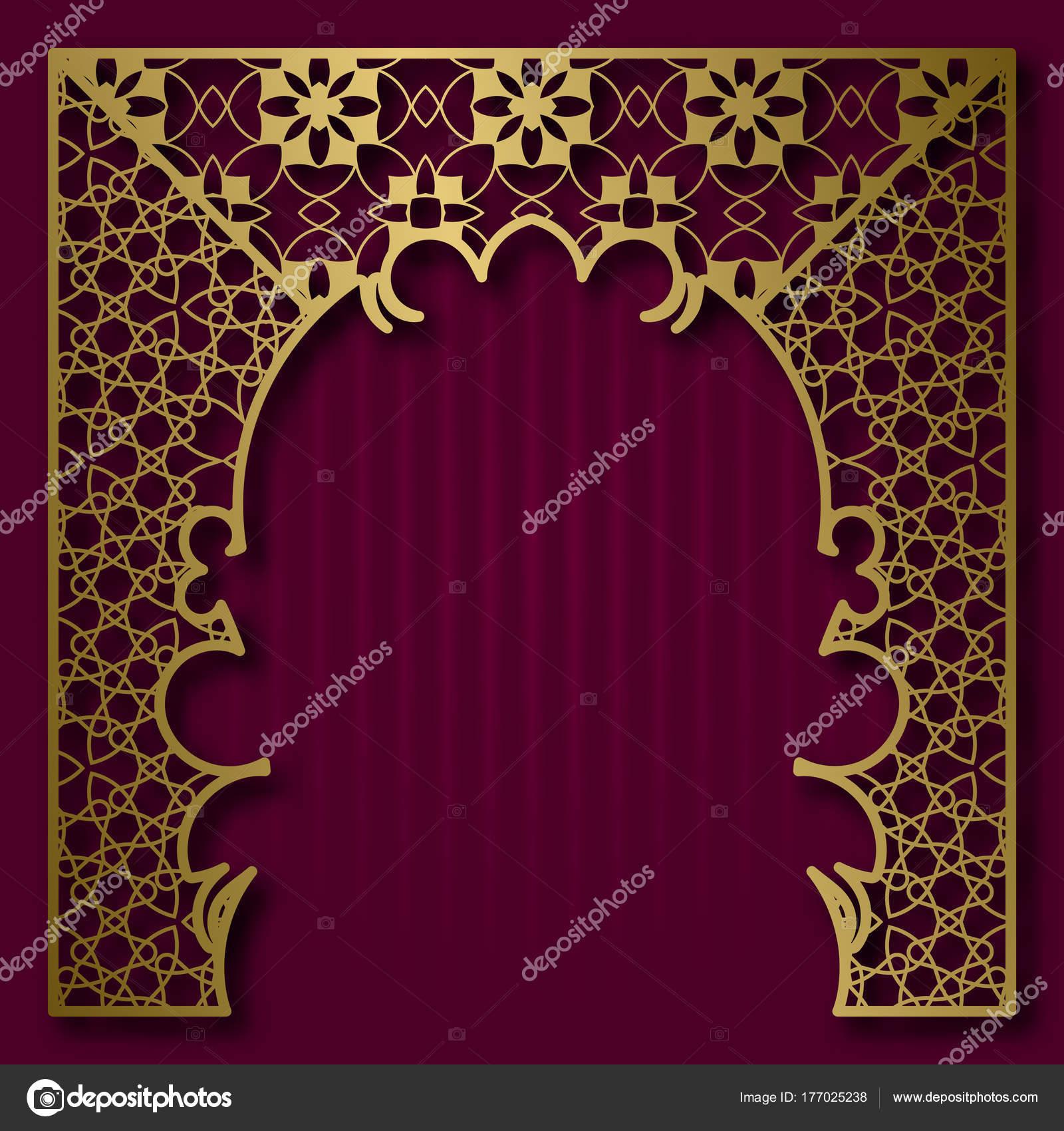 Vintage Grußkarte oder Album Cover-Hintergrund mit goldenen ...