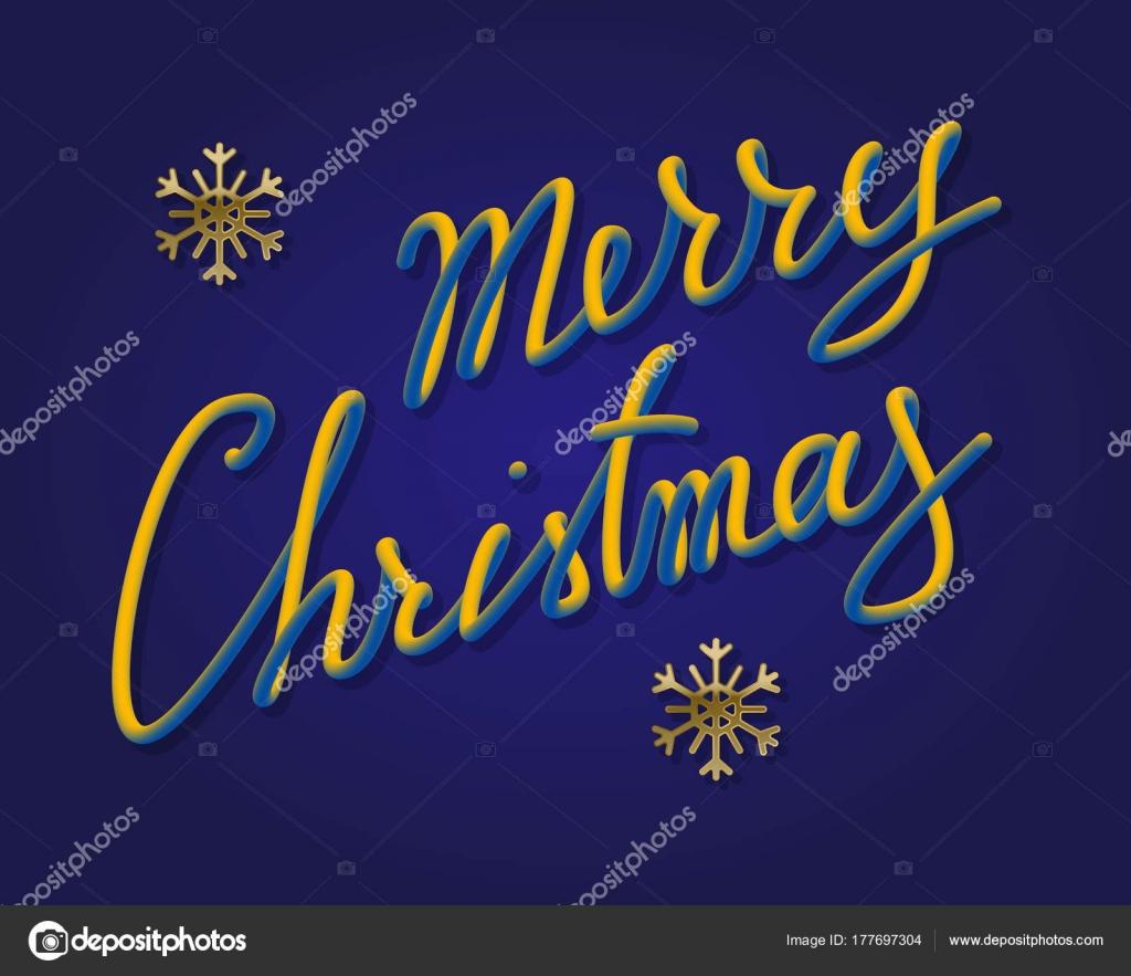 Frohe Weihnachten-Farbverlauf leuchtende Schriftzüge mit goldenen ...