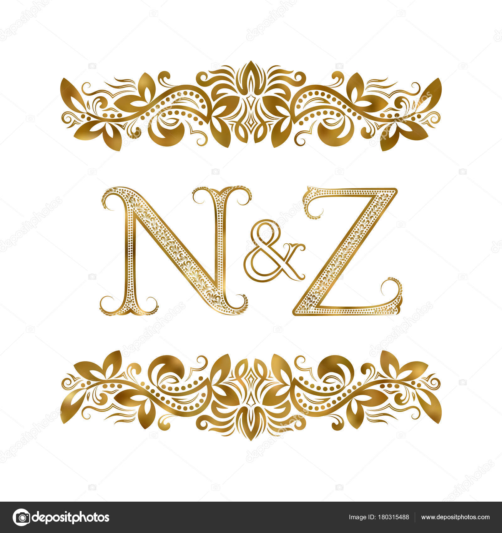 N and z vintage initials logo symbol the letters are surrounded by n and z vintage initials logo symbol the letters are surrounded by ornamental elements biocorpaavc Choice Image