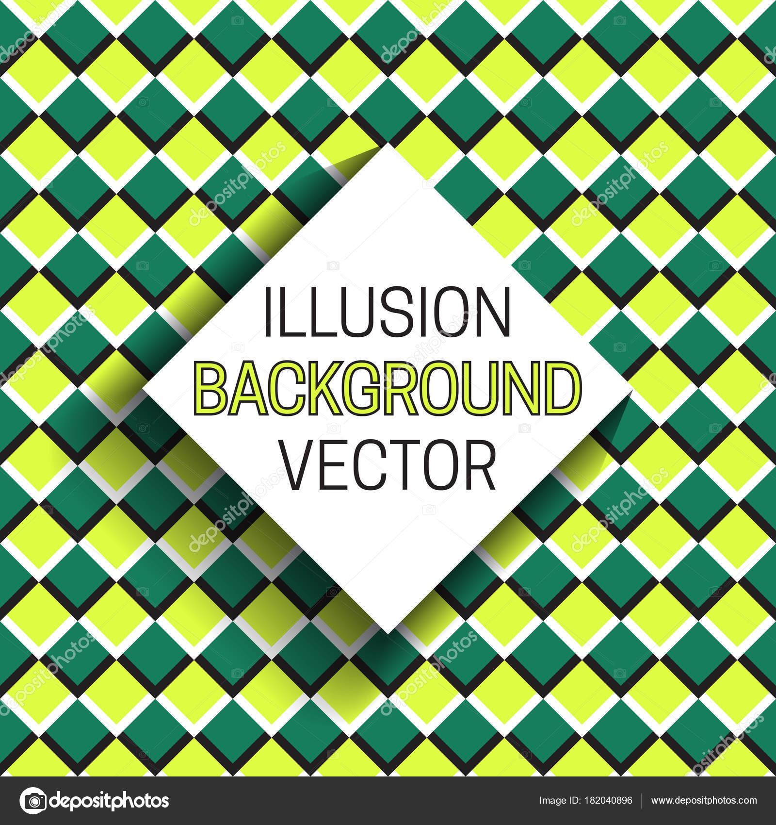 Plaza marco con sombra en el fondo de la ilusión de patrón a cuadros ...