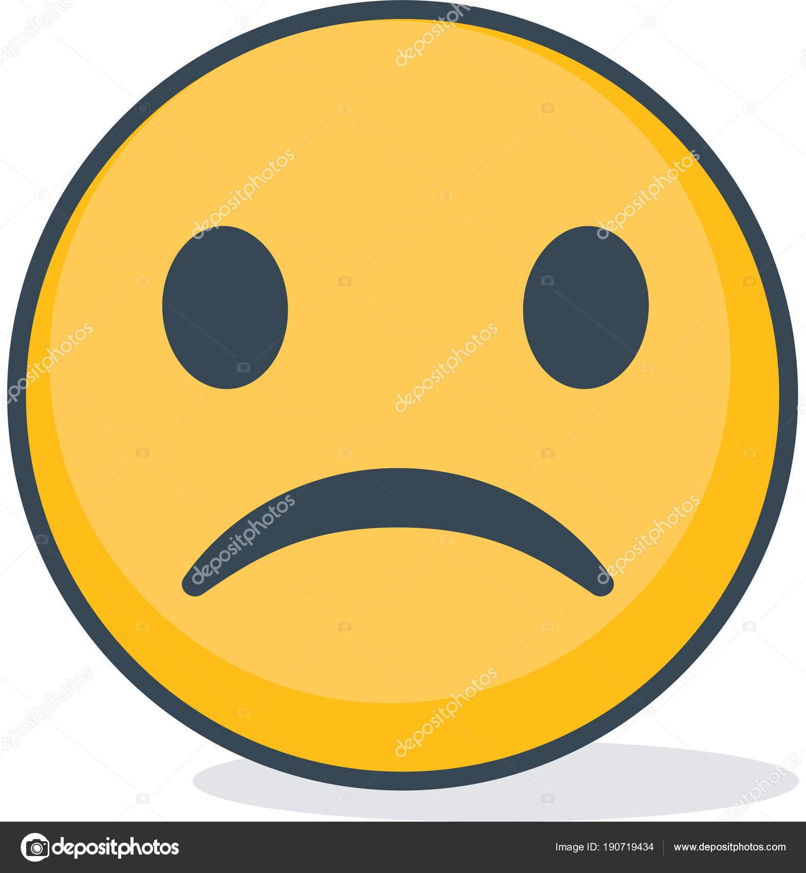foto de Faccina triste isolato Emoticon isolato Vettoriali Stock © onopko24 #190719434
