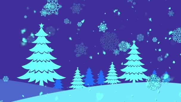 Weihnachten Landschaft 5 loopable Hintergrund