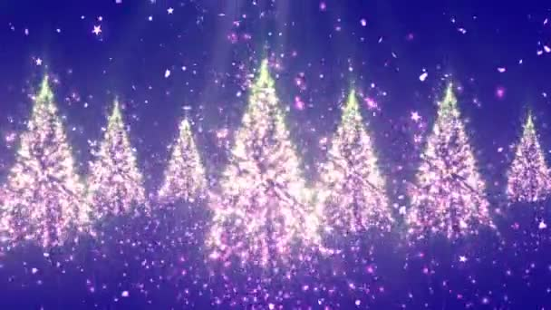 Christmas New Year Tree Glitters 3 Loopable Background