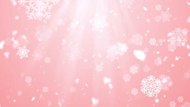 Christmas Winter Snowflakes 6 Loopable Background
