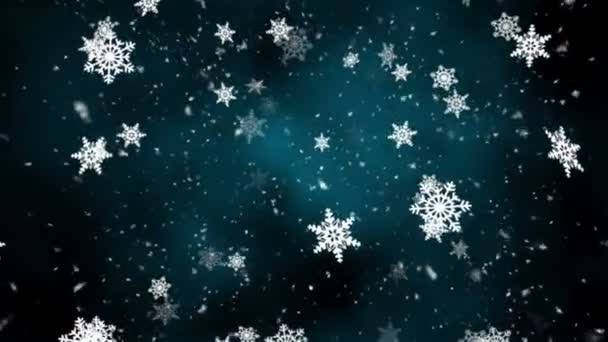 Snowflakes Fall 5 Loopable Background