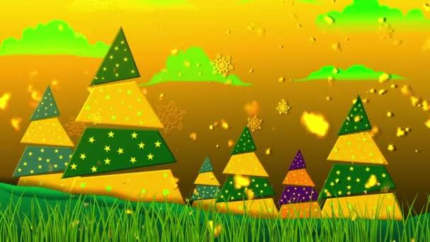 Retro Weihnachten 5 loopable Hintergrund