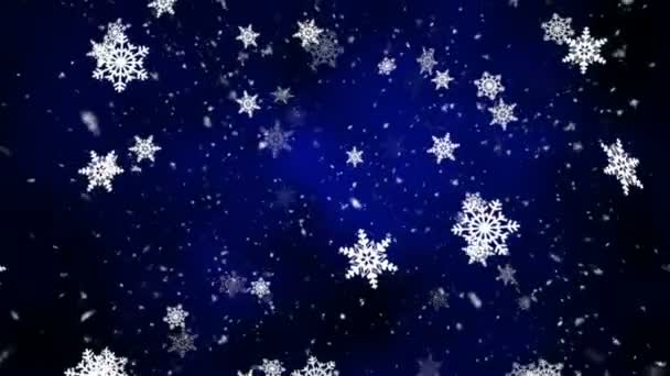 Night Snow Fall 2 Loopable Background