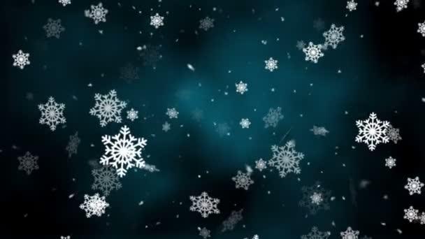 Schneeflocken fallen 6 loopable Hintergrund