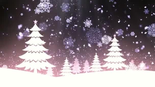 Christmas Tree Snow 2 Stockvideo Kreativorks 170744250