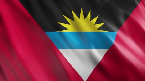 Antigua and Barbuda Flag Animation, Full HD, 1920x1080 Pixels, Extend the duration as per the requirement with Seamless Loop