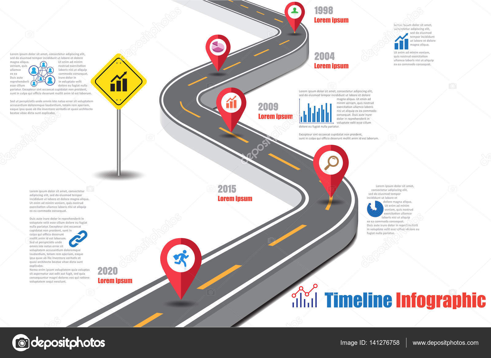 design template road map timeline infographic vector illustration vector by scenenature