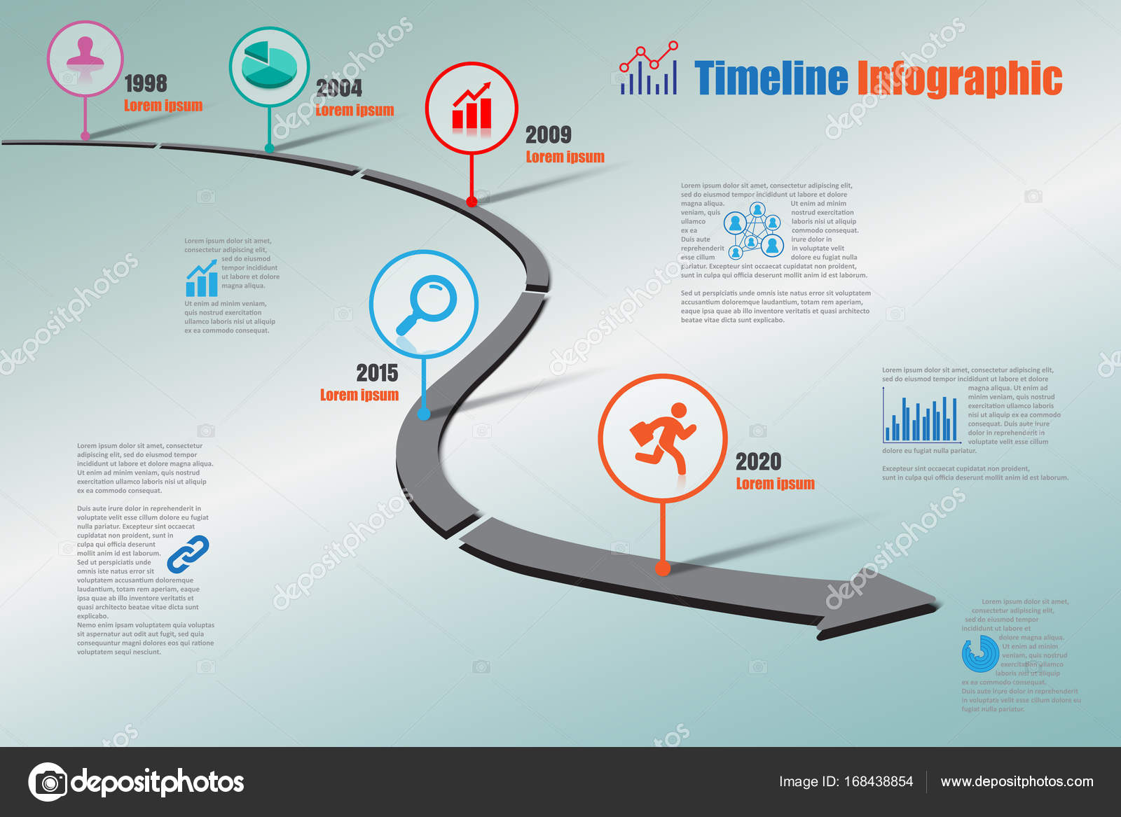 business road map timeline infographic icons designed for abstract background template milestone element modern diagram process technology digital marketing