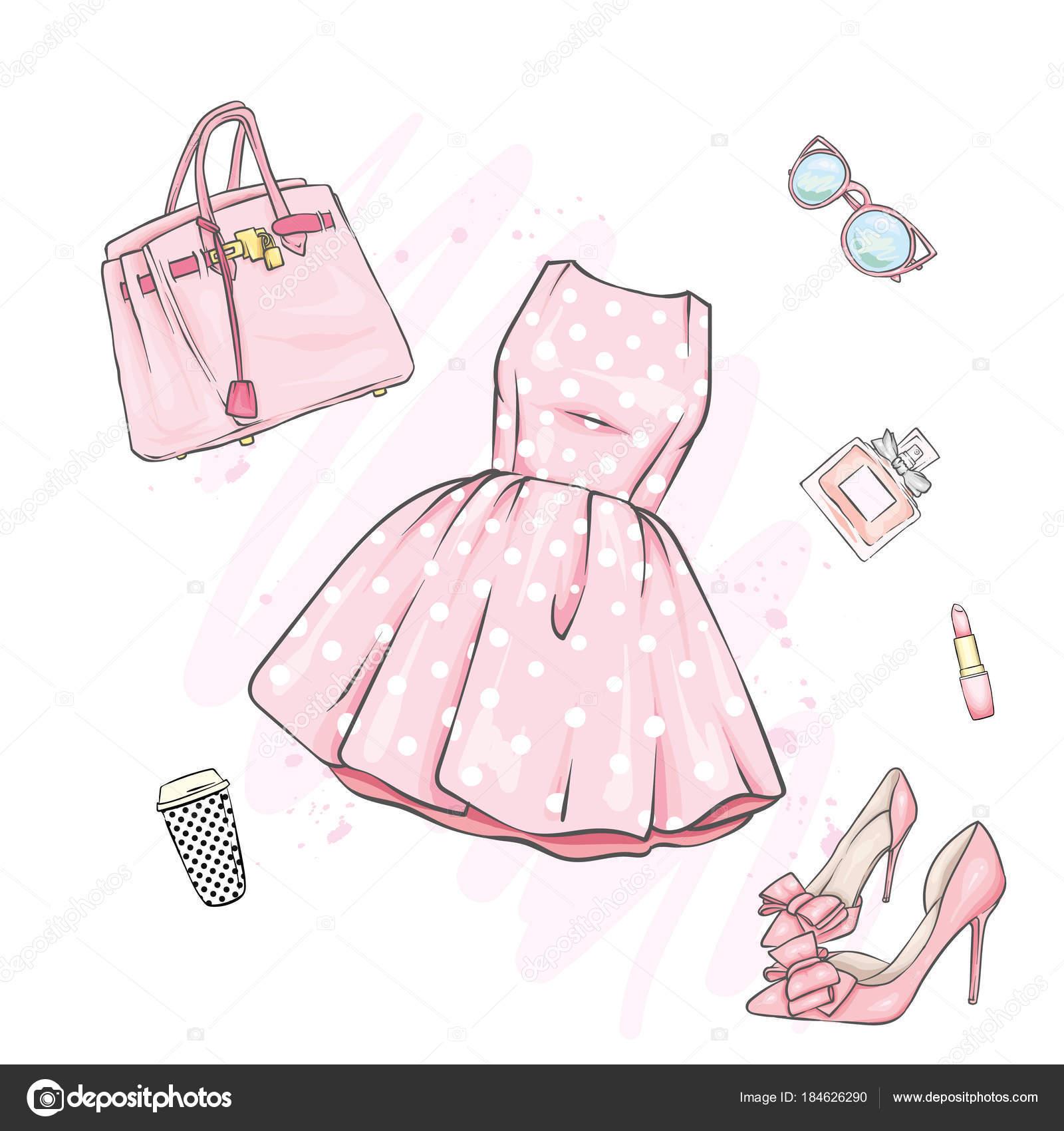 Zapatos Lapiz MujerConjunto Ropa Accesorios De DibujosA 29IHDWE