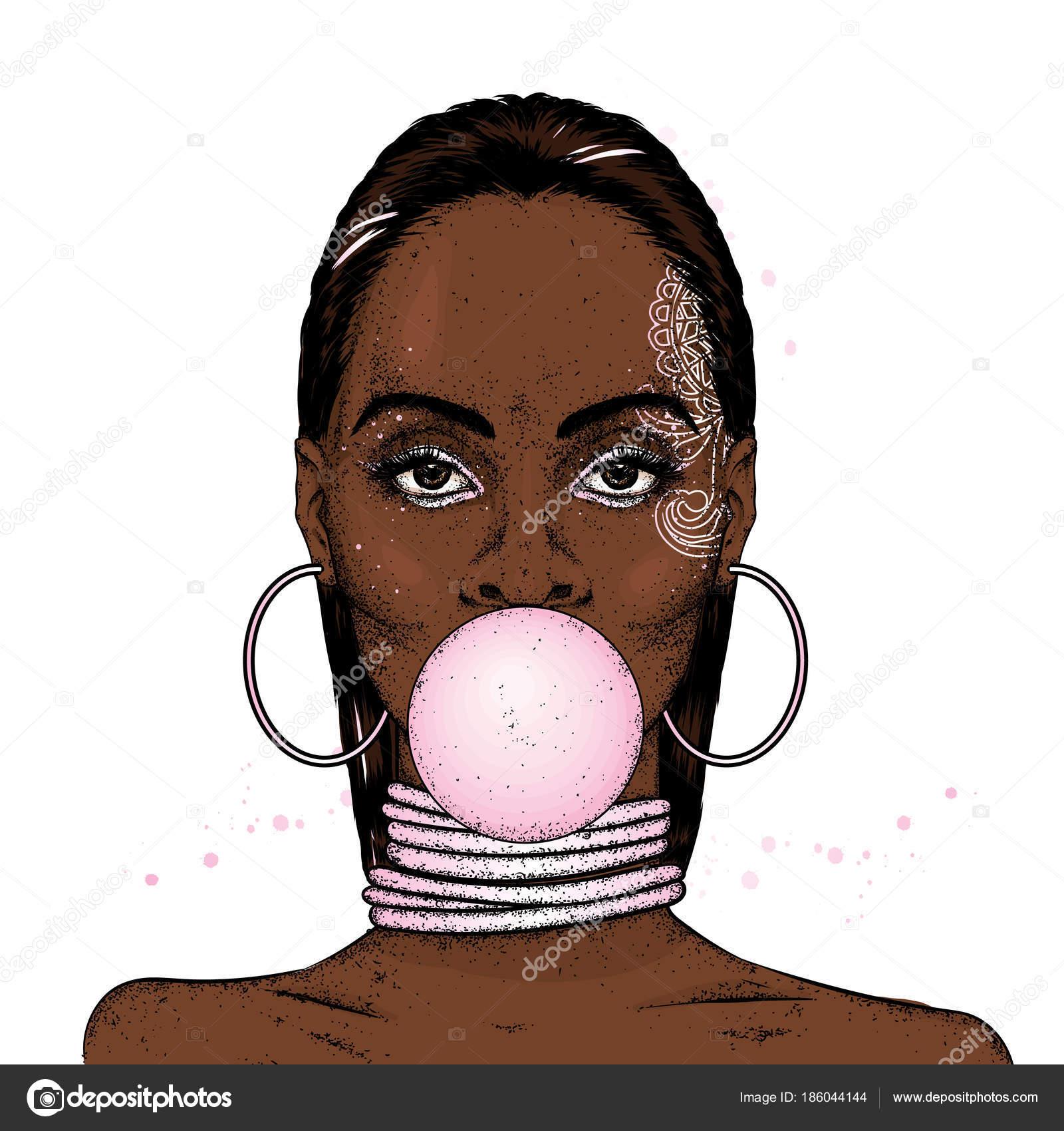 Негритянка с кольцом
