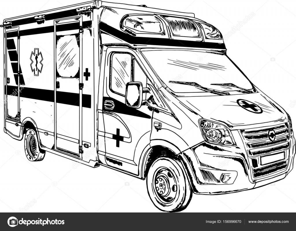 ambulance drawing vector � stock vector 169 galkajackdaw