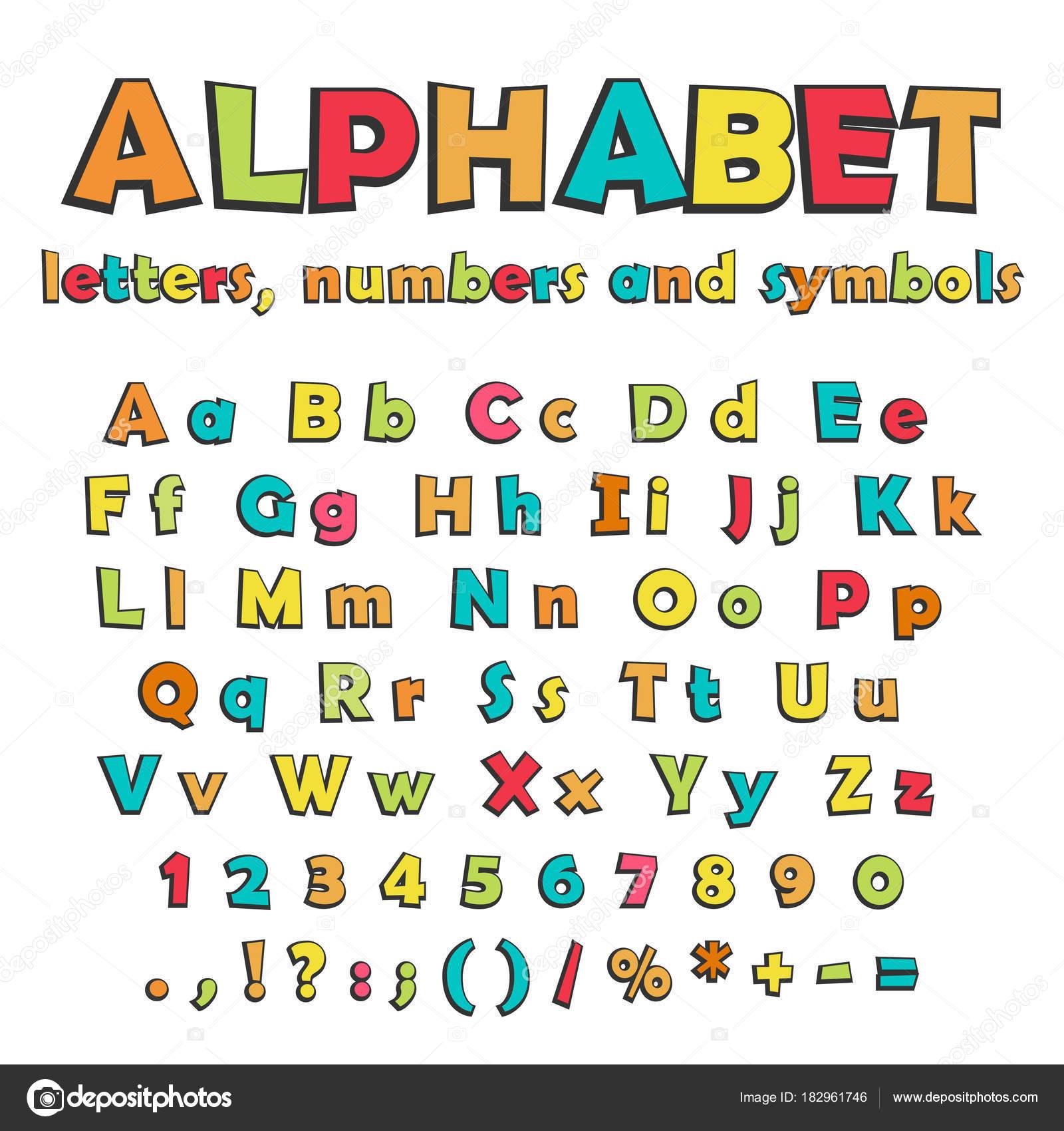 Imágenes Numeros Y Simbolos Dibujos Animados De Letras Números Y