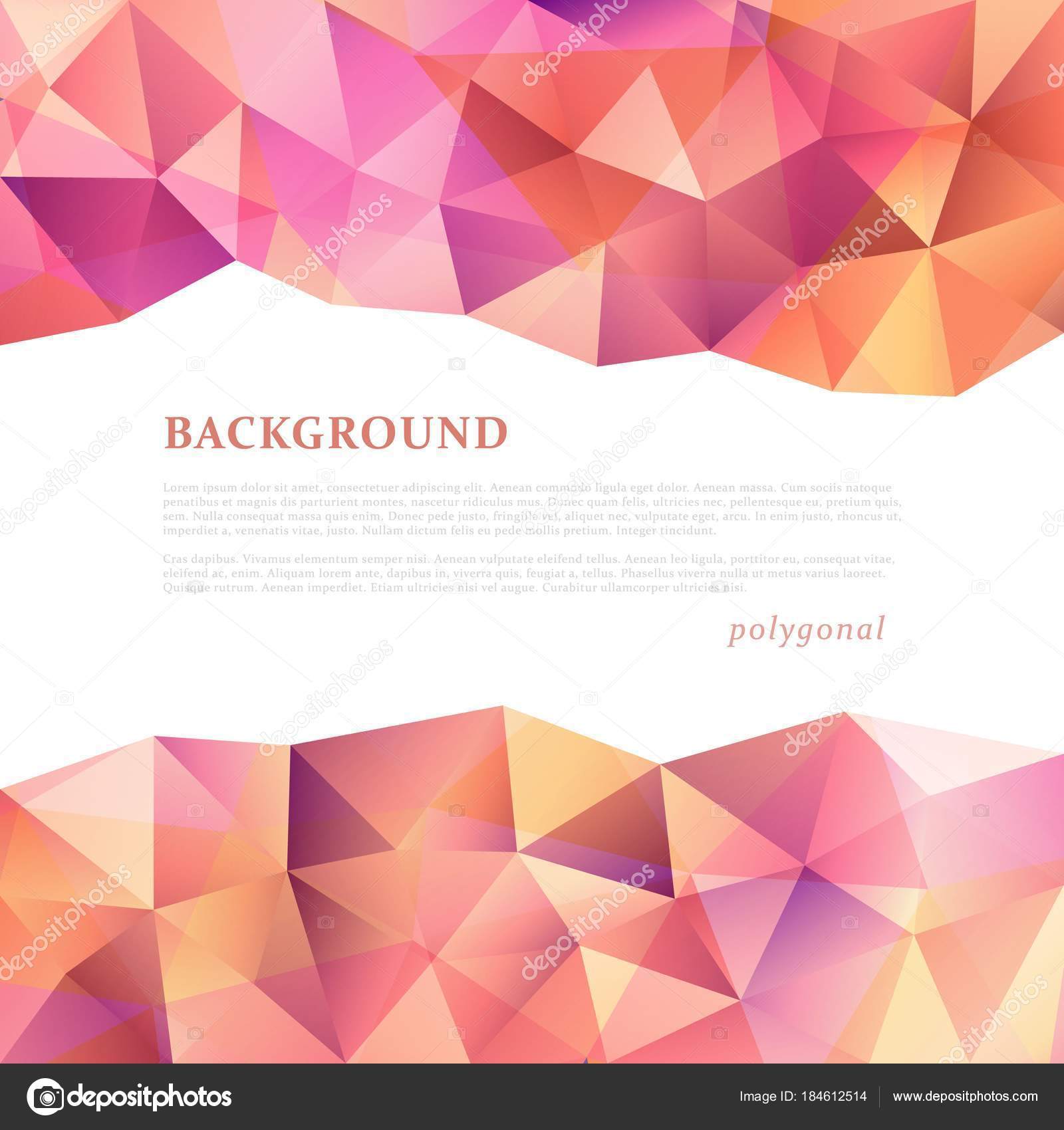 triangular banner template