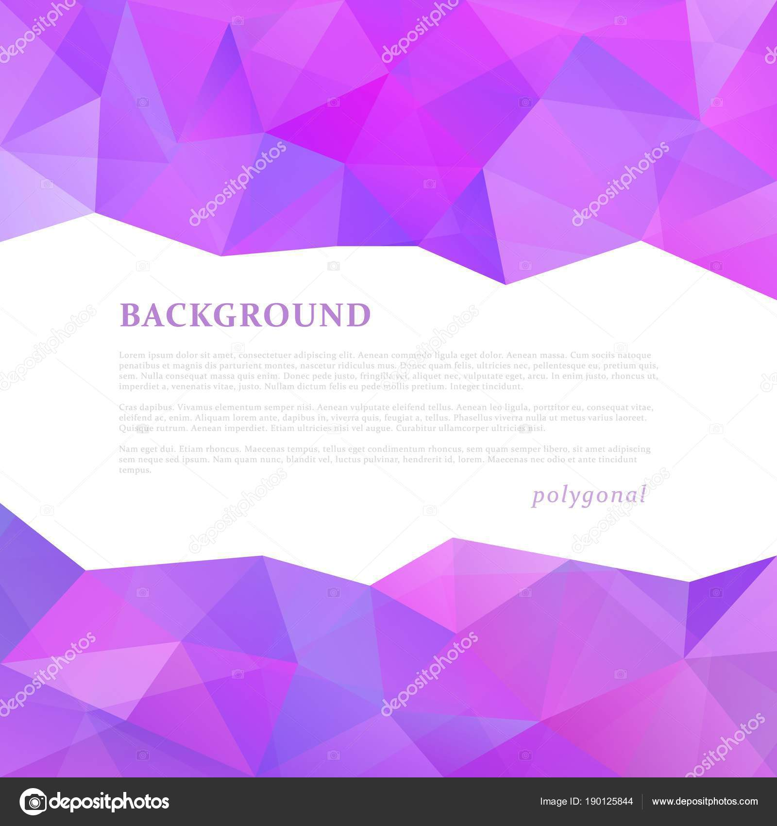 abstract triangle pattern background advertising banner template vector by kateku
