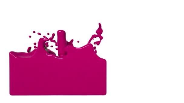 turbulens rózsaszín Folyadéktöltő tartályban. Szines festék