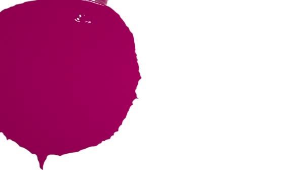 proudění fialových tekutin zasáhne obrazovku a pokrývá vše. Barevná tekutina
