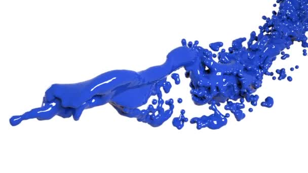 blue flow on white background