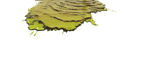 Flüssigkeit auf weißem Hintergrund