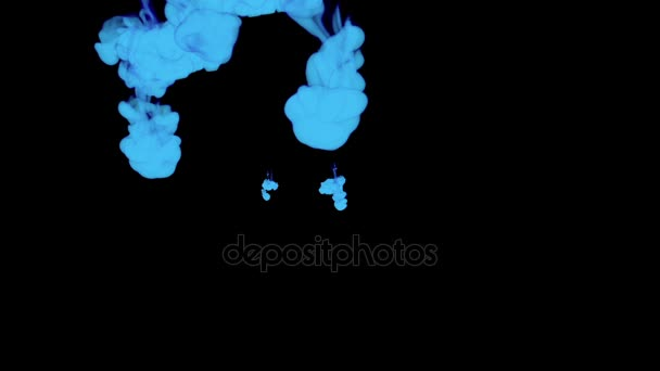 ABSTRACT BACKGROUND  BLUE SMOKE or BLUE INK IN WATER SERIES ON BLACK  3d  render voxel graphics  Elements of Motion Graphics  Jets of Ink spreading  in the water  Ink dissolving in water  Render 36