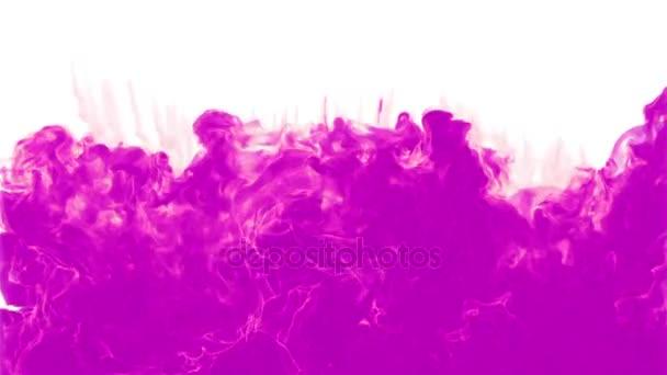 Růžový inkoust pozadí. Inkoustu řady vody. 3D vykreslení voxel grafikou. Na bílém pozadí. Viz další verzi. Verze 4