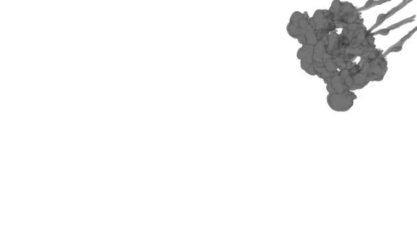 Inkoust na pozadí pro skládání. Šedá kouř nebo inkoust ve vodě série. Akvarel, klesl ve vodě na bílém pozadí. Voxel grafikou. Inkoust, rozpouštění ve vodě. Verze 18