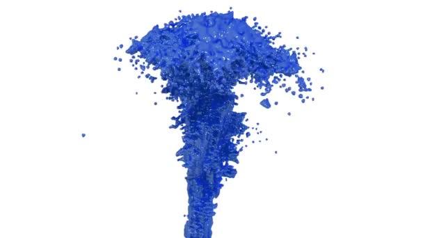 çeşme Gibi Araba Boya Alfa Mat Beyaz Zemin üzerine Mavi Boya Gibi