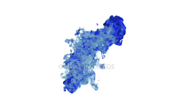 blue Fume or ink. Use it for background, transition or overlays. 3d motion graphics element VFX ink or smoke. Version 1