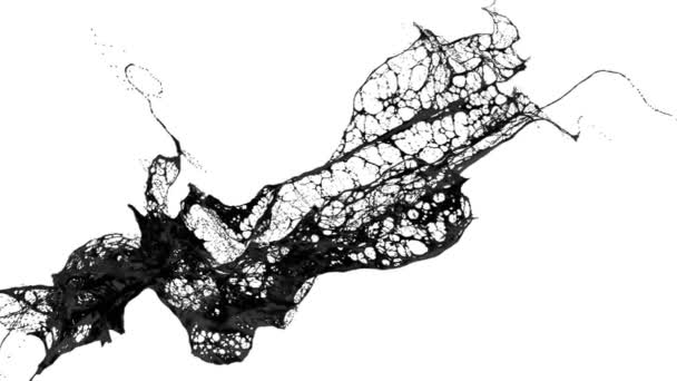 folyadék, mint a levegő fekete festék Splash mozog a lassú mozgás. 3D render folyadék nagyon magas részletesen. 1-es verzió