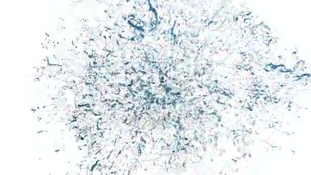 Splash blue šťáva. Bang tekutiny - exploze kapaliny ve zpomaleném filmu. Alfa kanál masky včetně Full Hd 3d render verze 2