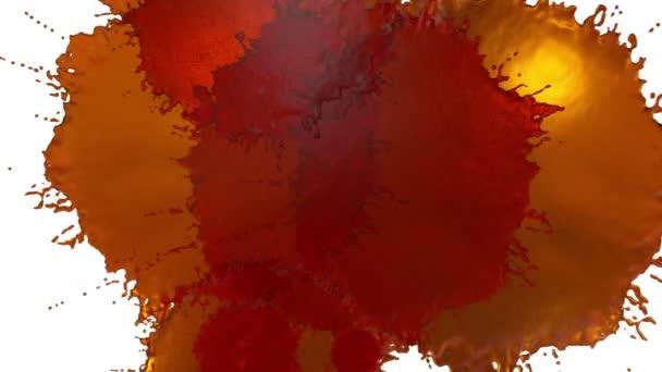 oranžová barva kapičky připadá na bílém povrchu. 3D vykreslení kapalina jako šťáva velmi vysoké detaily a alfa maskou pro skládání. Ver 6