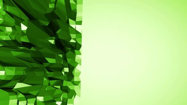 Zelené nízké poly pozadí pulzující. Abstraktní nízké poly povrch jako vědecké vizualizace v elegantní nízké poly design. Polygonální mozaiku pozadí s vertex, hroty. Super moderní 3d návrhu volného místa