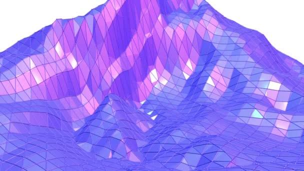 Fialové abstraktní nízké poly mávat povrch kreslených pozadí. Fialové abstraktní geometrické vibrační prostředí nebo Blikající pozadí kreslené nízké poly populární moderní stylový 3d design