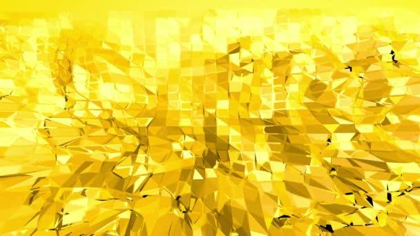 Sárga alacsony poly háttér oszcilláló. Absztrakt alacsony poly felület design elegáns alacsony poly sci-fi háttérként. Sokszögű mozaik háttér vertex, tüskék. Szabad hely