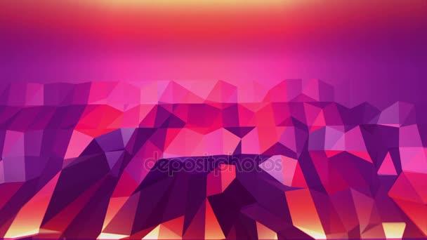 Fialové abstraktní nízké poly mávat povrch jako elegantní vzor prostředí. Fialové abstraktní geometrické vibrační prostředí nebo Blikající pozadí kreslené nízké poly stylový 3d design. Volné místo