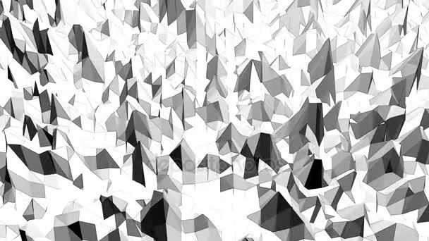 Abstraktní černá a bílá nízká poly mávat 3d povrch jako mládež pozadí. Šedá abstraktní geometrické vibrační prostředí nebo Blikající pozadí kreslené nízké poly populární stylový 3d design.
