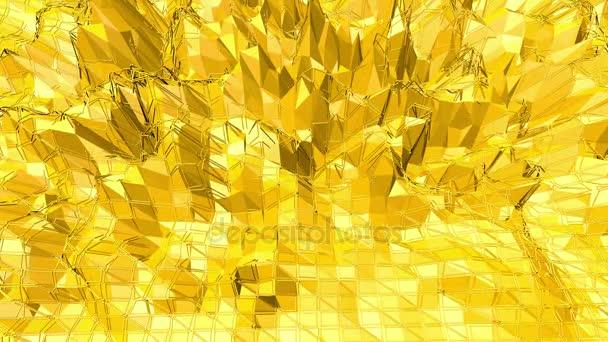 Sárga alacsony poly háttér oszcilláló. Absztrakt alacsony poly felülete, mint a szép háttér elegáns alacsony poly design. Sokszögű mozaik háttér vertex, tüskék. Szabad hely