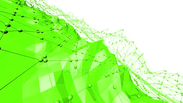 Zöld alacsony poly háttér rezgő. Absztrakt alacsony poly felület design elegáns alacsony poly finom háttérként. Sokszögű mozaik háttér vertex, tüskék. Szép, modern 3D-s tervezés szabad hely