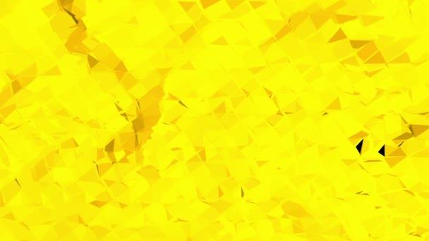 Sárga alacsony poly háttér oszcilláló. Absztrakt alacsony poly felülete, mint a matematikai visualization design elegáns alacsony poli. Sokszögű mozaik háttér vertex, tüskék. Modern 3D-s tervezés.