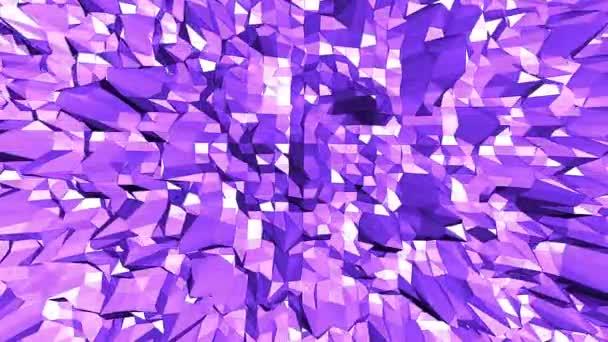 Fialové abstraktní nízké poly mávat povrch jako kreslené pozadí. Fialové abstraktní geometrické vibrační prostředí nebo Blikající pozadí kreslené nízké poly populární moderní stylový 3d design